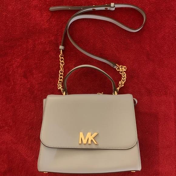 cfb01ef68fd0ed Michael Kors Bags | Mott Medium Leather Satchelpale Blue | Poshmark